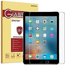 OMOTON Vitre Film Protection Apple iPad Air/iPad Air 2 /iPad Pro 9.7 En Verre Trempé,Ecran Protecteur Pour Apple iPad [2.5D Bord Arrondi]