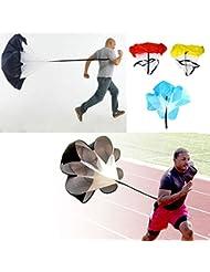 """sprigy (TM) 4Color 56""""Velocidad de Ejercicios Entrenamiento Resistencia Paracaídas Running Ejercicio paracaídas paraguas"""