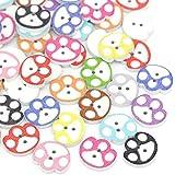 byary™ caliente 100 Piezas de perro para tienda de campaña de botones de madera de Jennie whitham Craft y demás accesorios de costura 14 x 16 mm