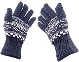 CAPE9 ® Fashionable Unisex Men Women Winter Woolen Streatchable Warm Gloves Riding Biking Free Size