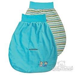 Baby Matex Baby Pucksack/Schlafsack/Autositz Strampelsack verschiedene Farben blau