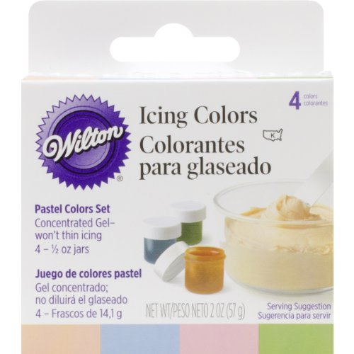 Wilton Icing Colors .5oz 4/Pkg-Pastel -