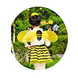 Gazechimp Biene 3Pcs / Set Haarreif Fühler Flügel Fee Halloween Fancy Party Kostüm Karneval Fasching -