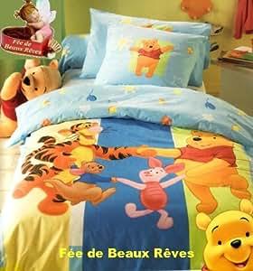 Parure de lit Housse de couette Disney Winnie l'Ourson • Danse avec Tigrou • + taie d'oreiller - Winnie the Pooh Duvet Cover