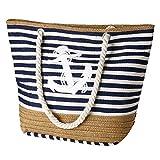 flintronic Große Strandtasche mit Reißverschluss und Innentasche Wasserdicht Strandtasche,...