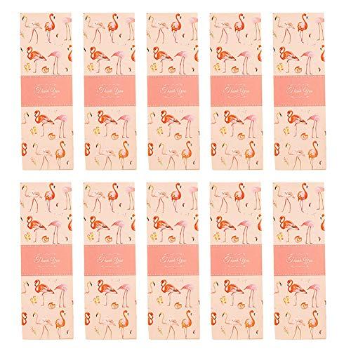 Lumanuby 10x Mode Flamingo Rechteck Geschenkbox für Süßigkeiten Keks oder Cookie Macaron Mehrzweck Lebensmittel Papier Box für Hochzeit Geschäft für Nachspeisen oder DIY Size 21x7.3x5cm -