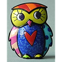 ROMERO BRITTO Mini Figur - Eule - Pop Art Kunst aus Miami