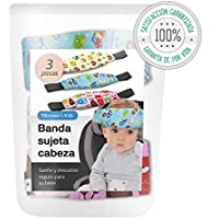 Tillmann's Kids® Sujeta Cabezas Coche Para Niños - ÚNICO Set Coche Bebé de 2+1 Soportes de Cabeza Para Silla Coche - Reposa Cabezas Niña y Niño