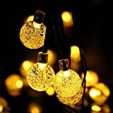 Impermeabile Giardino solare luci della stringa del LED esterna di Natale della luce leggiadramente del partito di giardino Alberi da sposa da letto luci decorative (bianco caldo)