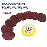 100PCS 50 mm 2 Zoll 60–2000 Körnung sandpapers mit Haken und Schlaufe Backer Pad
