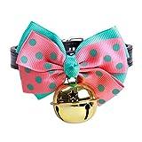 BaoJu Pet Dog Tie einstellbar Hundehalsband Pet Fliege mit großen Glocke Halsbänder für Welpen Kragen Pflege Zubehör-S (Size : P)