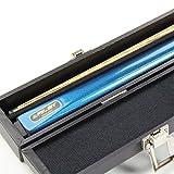 Riley Snooker-/Billardqueue, Eschenholz, Metallic-Blau, 2-teilig, mit Koffer