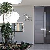 3D-Hausnummer 0 aus Edelstahl rostfreie & witterungsbeständige Hausnummern im 3D-Effekt in 20cm (Höhe) x 3cm (Tiefe) aus gebürstetem Edelstahl (V2A) inkl. Montagematerial