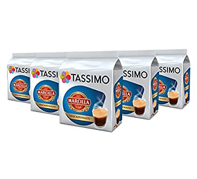 TASSIMO Marcilla Decaf Coffee Capsules Refills T-Discs Pods 5 Pack, 80 Drinks
