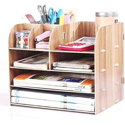 Desktop Storage Box forniture per ufficio in legno portaoggetti finitura