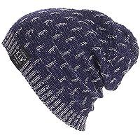 Cebbay Liquidación Gorros de Punto Hombre Unisex cálido Crochet Invierno Suave Capa Interna Sombreros y Gorras Esquí Ocio recreación al Aire Libre