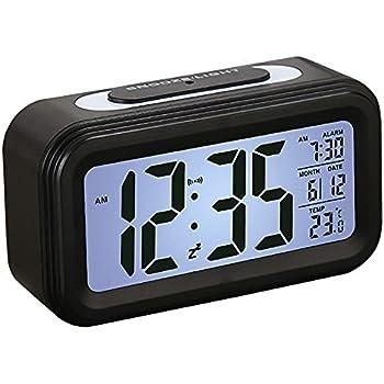 réveil avec grand lcd Écran seguro digital horloge alarme 12 24h