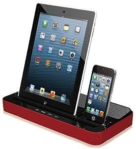 chargeur station d 39 accueil avec la fonction de haut parleur et 3 charge sur prise iphone30pin. Black Bedroom Furniture Sets. Home Design Ideas