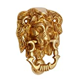 #9: Adonai Hardware Lion Brass Door Knocker