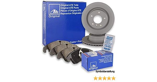Bremsenreiniger ATE Ceramic Bremsbel/äge Keramik Bremskl/ötze Bremsenset Bremsenkit Komplettset Vorderachse Original ATE Bremsscheiben vorne