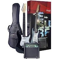 Stagg 25018419 Esurf 250 BK normas de la UE guitarra eléctrica incl. Amplificador negro