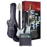 Stagg ESURF 250 BK EU Pack Guitare électrique Standard + Amplifier Noir