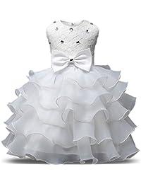 NNJXD Vestito da Ragazza Festa in Pizzo per Bambini Abiti da Sposa 8b8567d2202