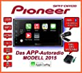 Opel Astra H Zafira B silber - Pioneer SPH-DA120 - 2DIN USB Bluetooth Apple CarPlay Autoradio - Einbauset