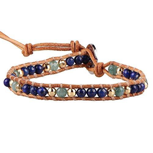 kelitch-lapis-lazuli-amazonite-hematite-perles-femme-bracelet-sur-beige-cuir