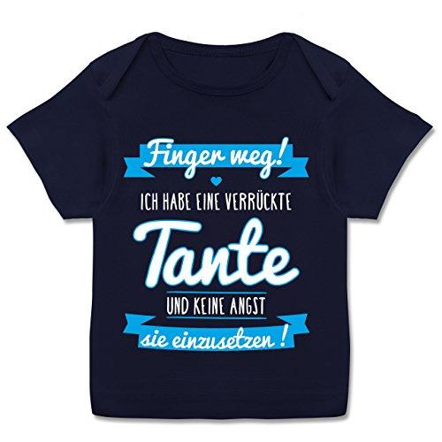 Verrückte Jungs T-shirt (Shirtracer Sprüche Baby - Ich Habe eine Verrückte Tante Blau - 80-86 (18 Monate) - Navy Blau - E110B - Kurzarm Baby-Shirt für Jungen und Mädchen in Verschiedenen Farben)