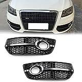 Areyourshop 1coppia paraurti anteriore griglia luce fendinebbia Covers Trim for Q52009–2011New
