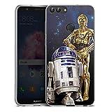 DeinDesign Huawei P smart Silikon Hülle Case Schutzhülle Star Wars Merchandise Fanartikel Droids R2d2 C3po