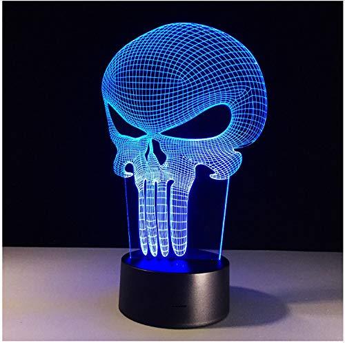 Nachtlicht Schädel Visual LED Tisch Nacht Farbwechsel Tischlampe Methacrylat Platte Deko Nachtlichter 3d USB Lampe -