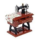 Kitchnexus Mini Carillon Music Box Vintage Simulazione macchina da cucire (marrone)
