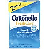 ** Fresh Care Flushable Cleansing Cloths, White, 3.73 x 5.5, 84/Pack by 5COU