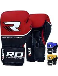 RDX Guantes Boxeo Saco Combate Vacuno Cuero Entrenamiento Sparring Mitones Muay Thai Kick Boxing