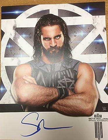 Seth Rollins main signé offcial 27,9x 35,6cm Poster