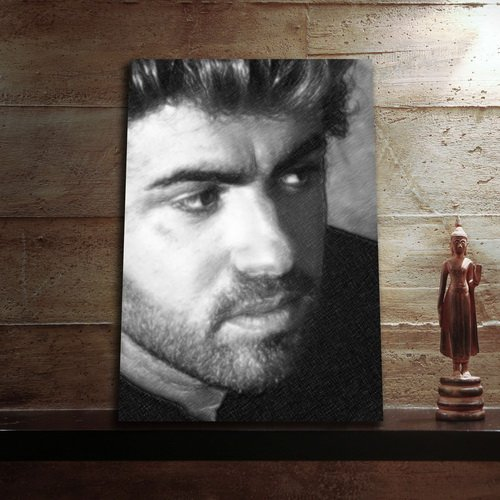 GEORGE MICHAEL - Original Art Print (A4 - Signed by the Artist) #js003