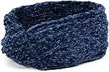 styleBREAKER Fascia per la Fronte da Donna in ciniglia Lavorata a Maglia con Nodo, Fascia per Capelli, Fascia per la Testa 04026031, Colore:Blu