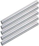 Wedo 525450 Schneidelineal aus Aluminium mit Stahlkante und rutschsicherer Gummieinlage, 50 cm (5er Pack)