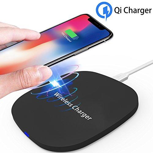 Fast Wireless Charger,ToHayie 10W Drahtlose Induktive Qi Ladegerät für iPhone 8,iPhone 8 Plus ,iPhone X, Samsung S7 / S6 / Edge / Plus / Note, Nexus, HTC, LG und alle anderen Qi-fähigen Geräte