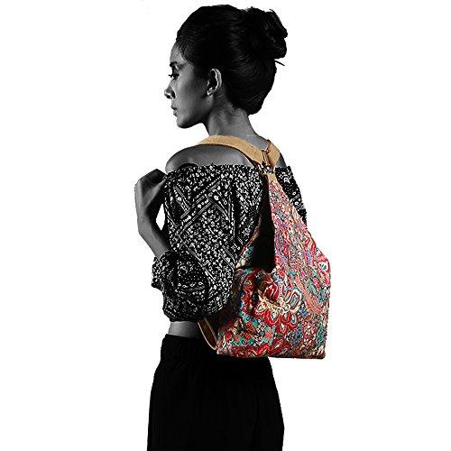 Chang Spent Die neuen Frauen-National Wind Leinwand Umhängetasche Rucksack Reisetasche (klein) a