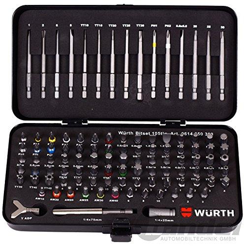 Würth universeller Werkzeugsatz - 105 tlg. Bit-Set im robusten Metallkoffer 0614 250 300