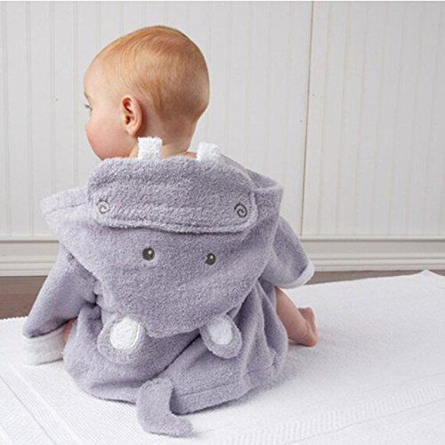 Brawdress Bestickt Baby Mädchen Jungen Bademantel | Kapuzenhandtuch, Tierisches Design, Baumwolle Badetuch Für Kinder 0-2 Jahr