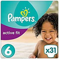 Pampers Active Fit Couches Taille 6 essentielle Lot 31