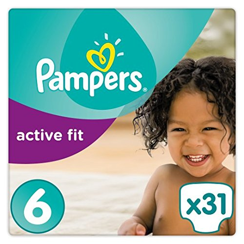 Pampers Active Fit Gr. 6 Essential Pack - 2 über Pampers Nacht Größe Windeln