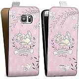 Samsung Galaxy S7 Tasche Hülle Flip Case Disney Bambi Spruch