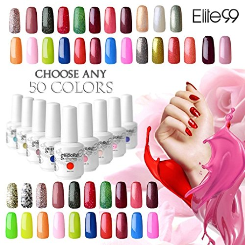 Elite99 Pick Any 50 Colours 15ml UV LED Gel Polish Soak Off Nail Varnish Nail Art Starter Set