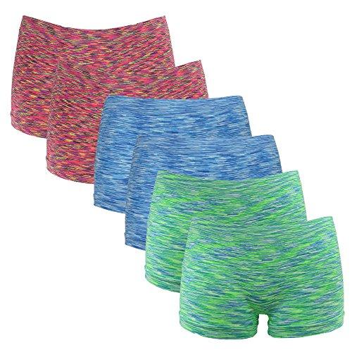 Mutande donna senza cuciture a sei colori confezione da 6 Rosso/Verde/Blu