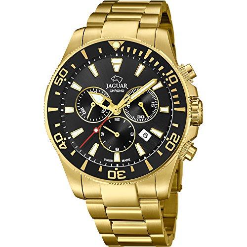 Reloj Jaguar caballero crono Executive chapado esfera negra